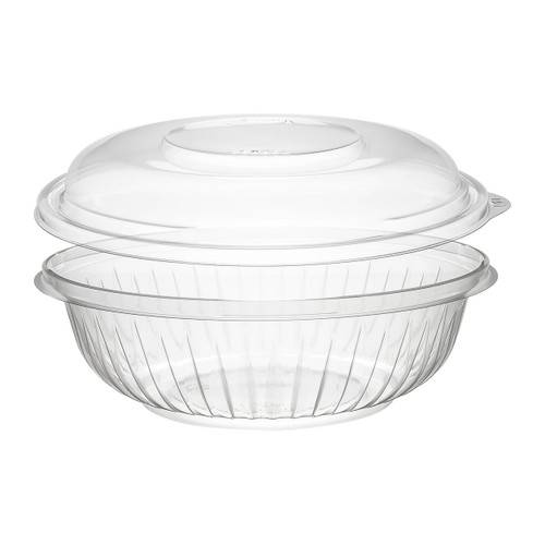 24 oz. Clear Plastic Bowl with Dome Lid - 126/Case