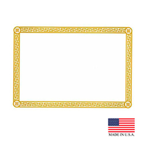 "10"" x 14"" Greek Key Gold Placemat - 1000/Case"