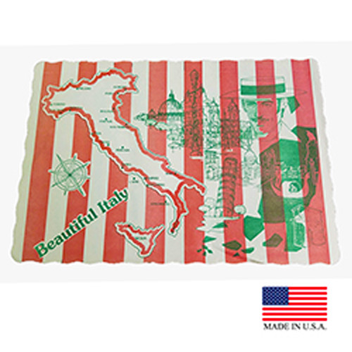 """10"""" x 14"""" Italy Print Placemat - 1000/Case"""