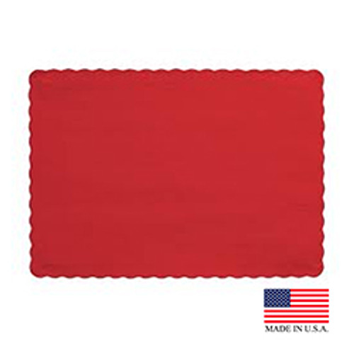 "10"" x 14"" Red Placemat - 1000/Case"