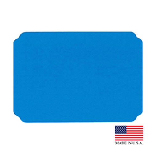 "10"" x 14"" Blue Placemat - 1000/Case"
