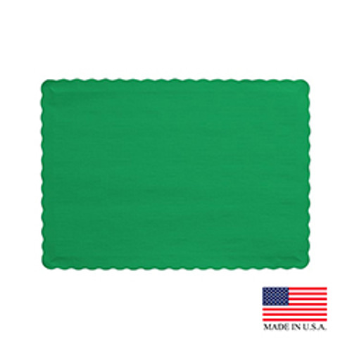 """10"""" x 14"""" Green Placemat - 1000/Case"""