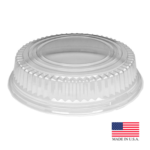 "Stakmate Clear 18"" Plastic Dome Lid - 25/Case"