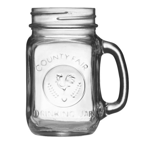 Libbey 97085 16.5 oz. Drinking Jar with Handle - 12/Case