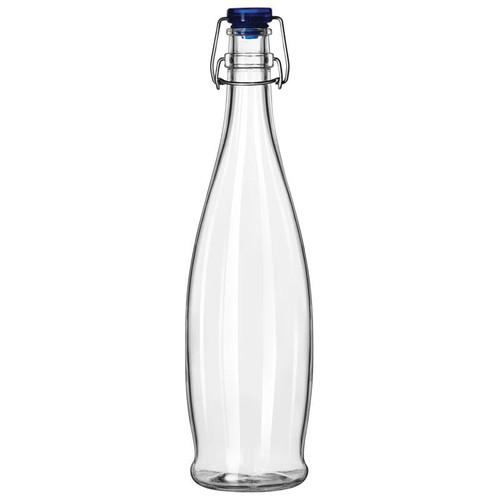 Libbey 13150020 33.875 oz. Water Bottle with Wire Bail Lid