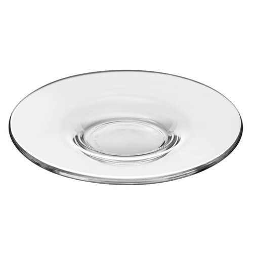 """Libbey 13246422 5 7/8"""" Cappuccino Glass Saucer - 12/Case"""