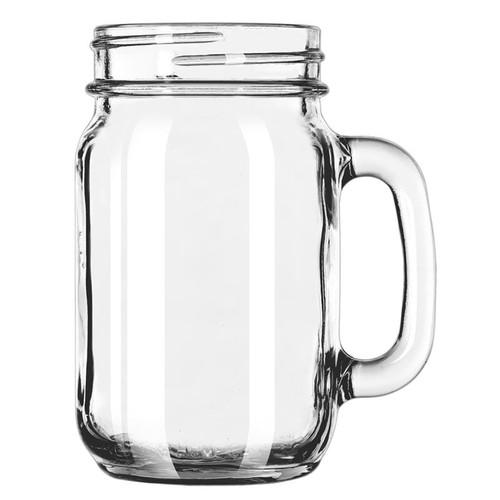 Libbey 97084 16 oz. Drinking Jar with Handle - 12/Case