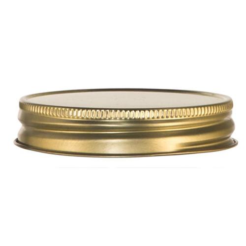"Libbey 92136 3"" Gold Metal Drinking Jar Lid - 12/Pack"