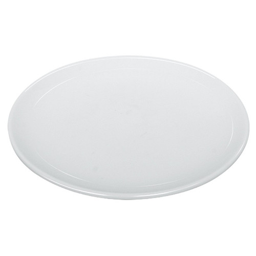 "Yanco AC-10-C 10"" Round Super White Coupe Porcelain Plate - 12/Case"
