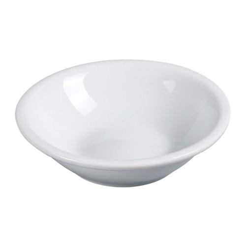 Yanco AC-32 3.5 oz. Super White Porcelain Fruit Bowl - 36/Case