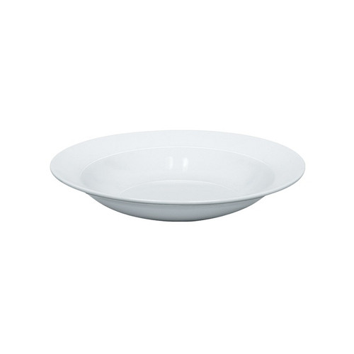 "Yanco AC-3 9"" Round Super White Porcelain Soup Plate - 24/Case"