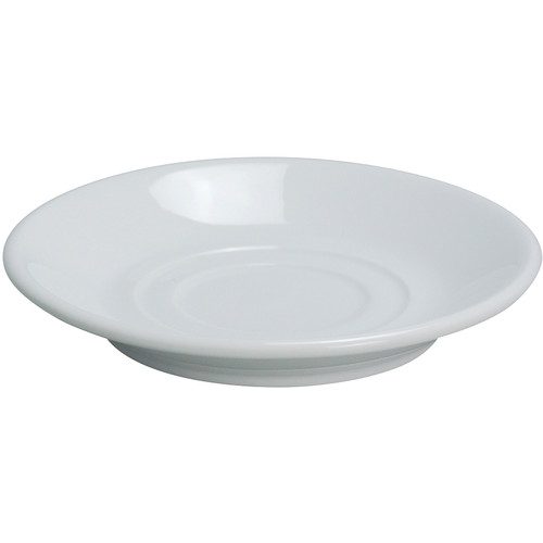 "Yanco AC-2 5 5/8"" Super White Porcelain Saucer - 36/Case"