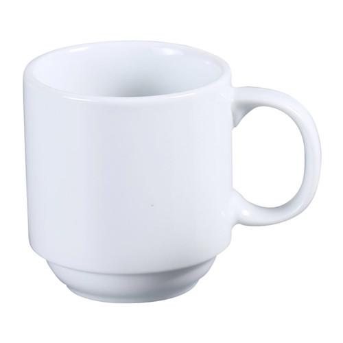 Yanco AC-10-P 10 oz. Super White Porcelain Prime Mug - 36/Case