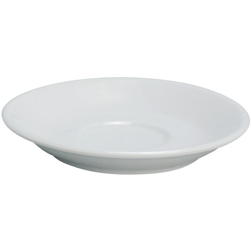 "Yanco AC-36 4 1/2"" Super White Porcelain Saucer - 36/Case"