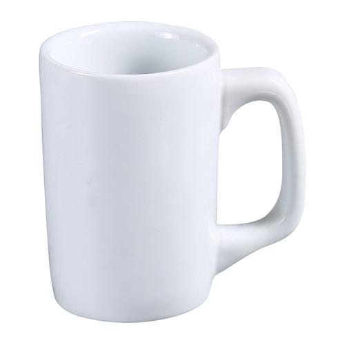 Yanco AC-12-D 12 oz. Super White Porcelain Diner Mug - 36/Case