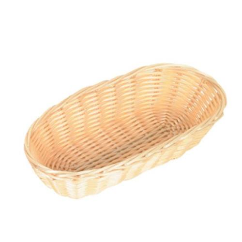 "Thunder Group PLBB850 8-1/2"" x 4"" x 2"" Oblong Plastic Bread Basket"