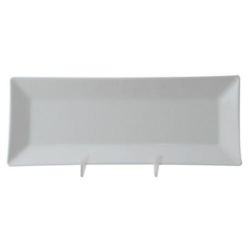 """Thunder Group 29110WT Classic White 10 1/4"""" x 4"""" Rectangular Melamine Plate"""