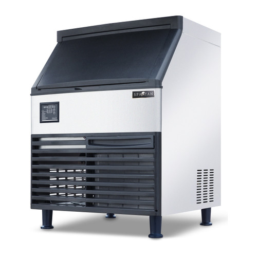 Spartan SUIM-160 Undercounter Half Cube Ice Machine with 80 Lbs Built-in Bin, 160 Lbs/Day