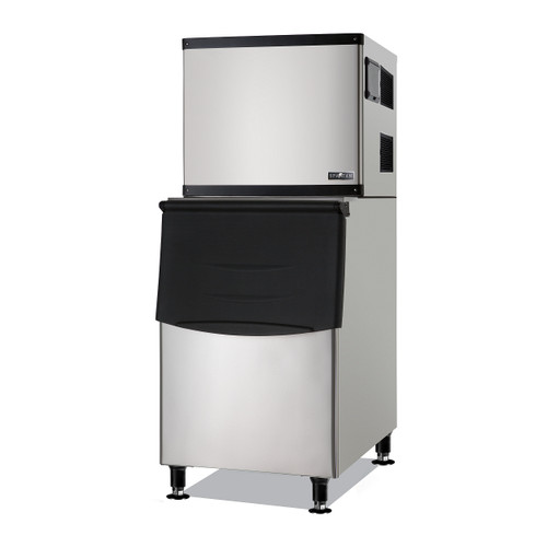 Spartan SMIM-500 Half Cube Ice Machine with 275 Lbs Built-in Bin, 500 Lbs/Day