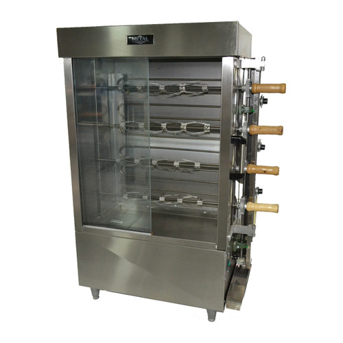 Metal Supreme FRG4VE Gas Rotisserie Oven - 60,000 BTU