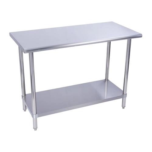 "KCS WS-2430 24"" x 30"" 18 Gauge Stainless Steel Work Table with Undershelf"