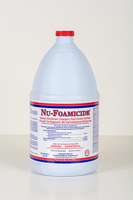 Glissen 300048 Nu-Foamicide Detergent/Sanitizer Combination - 1 Gallon