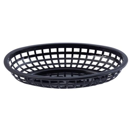 "Tablecraft C1074BK Baskets, Oval, 9-3/8"" x 6"" x 1-7/8"", Black"