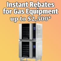 Instant rebate for selected gas equipment!
