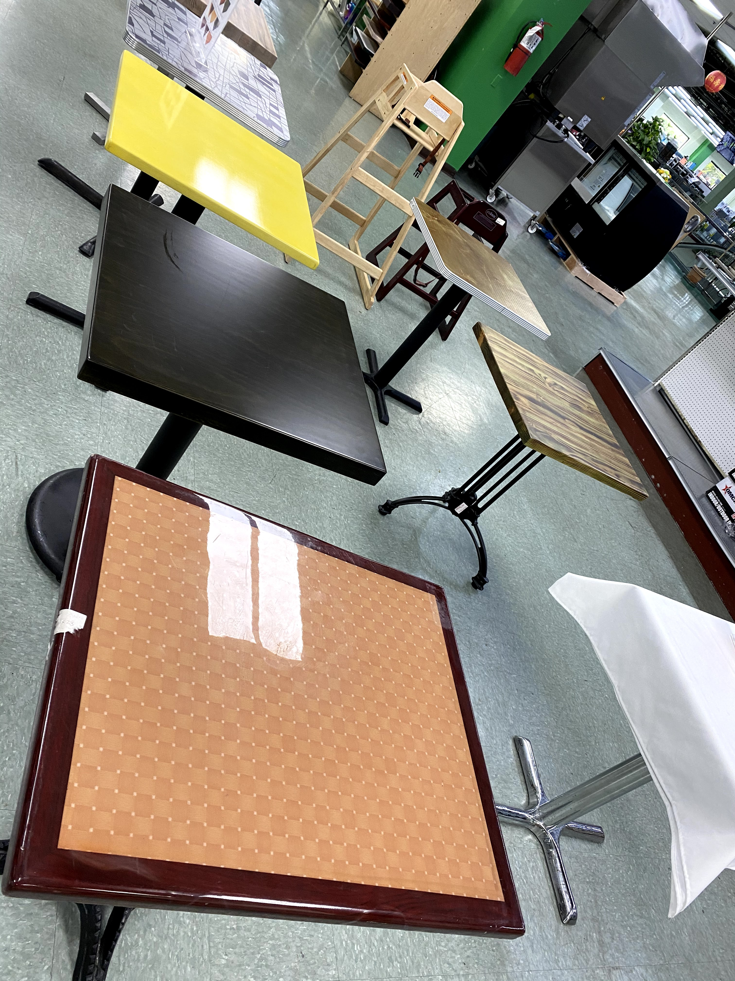 Shop restaurant tables and chairs at Win Depot.
