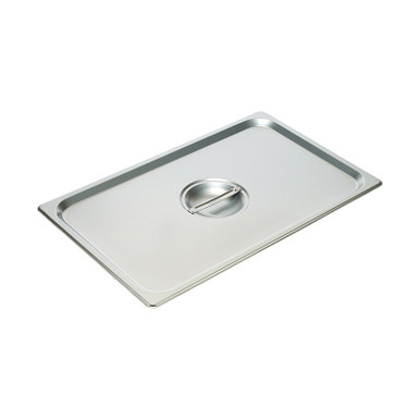 Winco SPSCF NSF Full-Size Solid Stainless Steel Steam Table Pan Cover