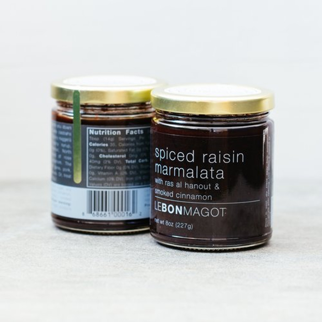 Le Bon Magot - spiced raisin marmalata with ras al hanout & smoked cinnamon