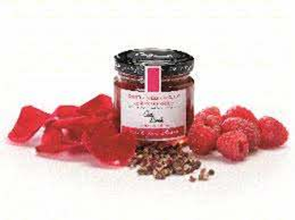 Can Bech Raspberries with Rose Petals and Sichuan Pepper Jam