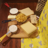 Mac&Cheese with Blue Cheese. Measuring cups, grater, and cheese board are not included