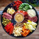 Mixed Veggie and Charcuterie Platter