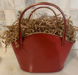 Metal Basket with Handle Red or Green