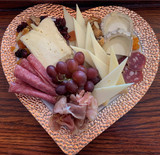 Valentines Day's Charcuterie and Cheese Plate for 2