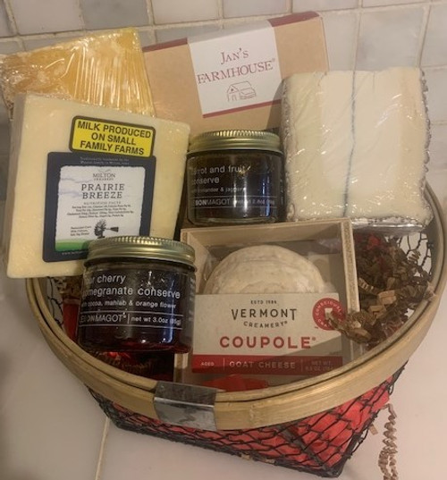 American-Made Cheeses Basket
