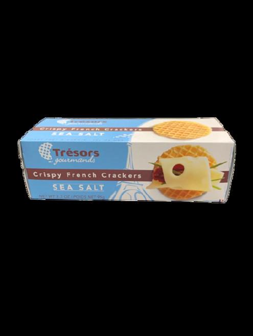 Tresors Gourmands Crispy Sea Salt Crackers 3.3 oz