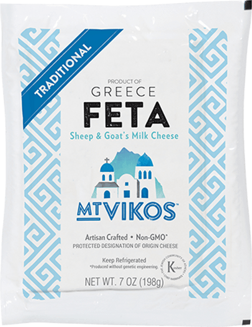 Mt Vikos Greek Feta 7oz Package