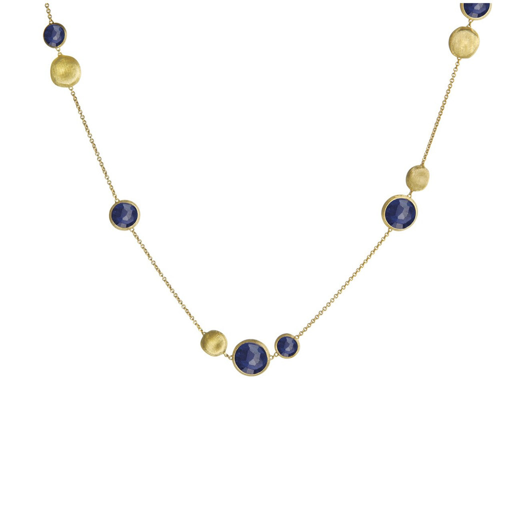 18k Yellow Gold Lapis Necklace (#283295)