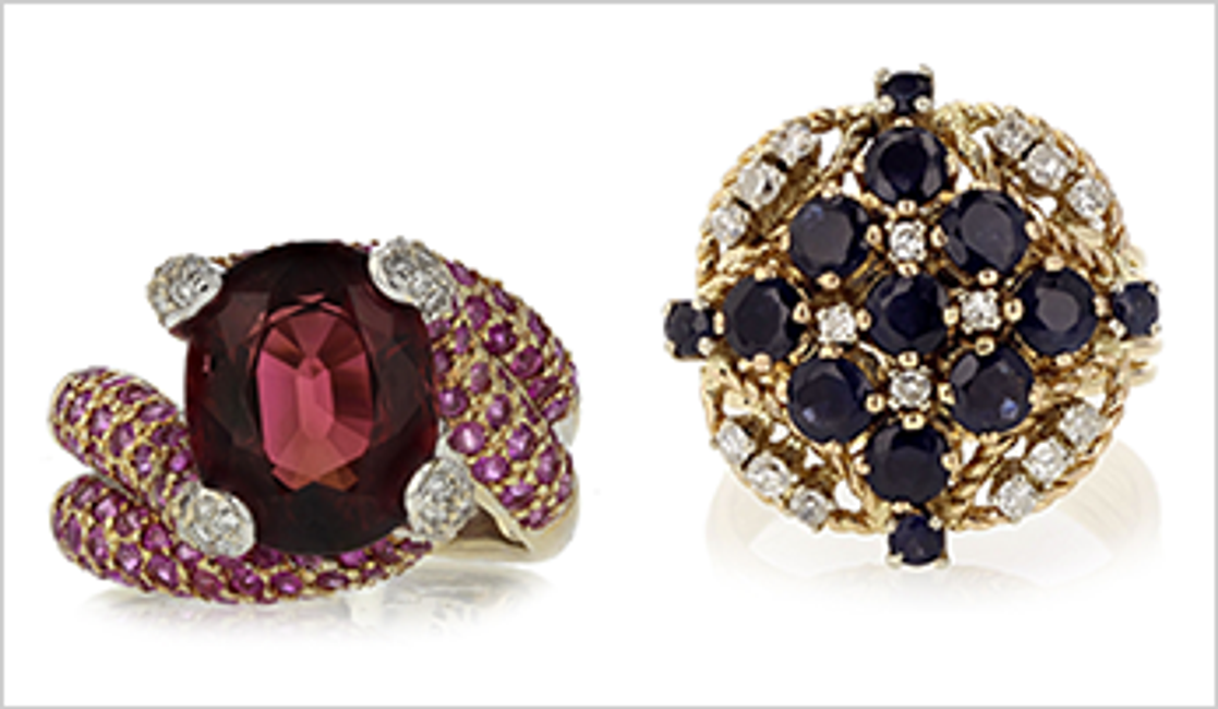 Our 5 Favorite Estate Cocktail Rings