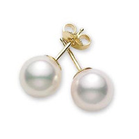 Akoya Pearl Stud Earrings (#350507)