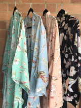 Blossom Print - Mint, Peach, Sky Blue & Black