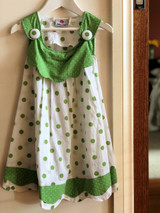 Dotty Girls Green Button Up Dress - Pack of 3