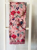 Bird Print Peach Sarong/Wrap