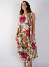 Samara White Bias Cut Long Dress