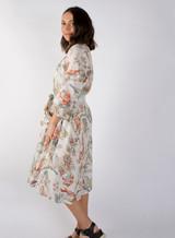 Vintage Bird Bias Cut Belted Dress