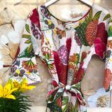 Samara White Bias Cut Belted Dress