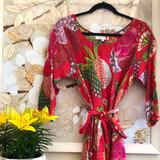 Samara Red Bias Cut Belted Dress