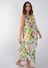 Butterfly Meadow Bias Cut Long Dress